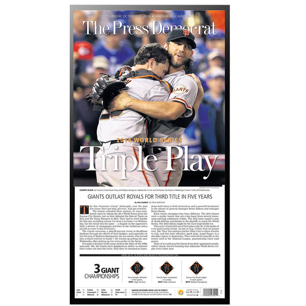 PD Classic - Commemorative SF Giants 2014 World Series Win
