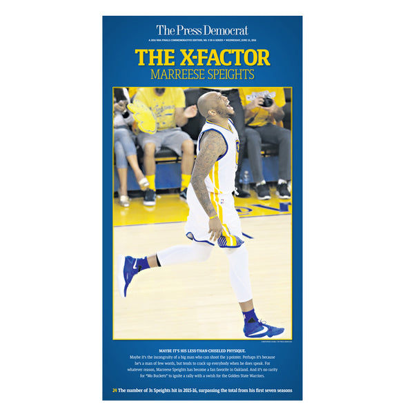 Warriors Commemorative Sports Page Replica - Marreese Speights