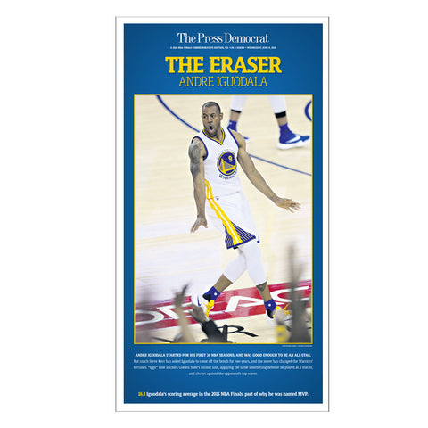Warriors Commemorative Sports Page Replica - Andre Iguodala