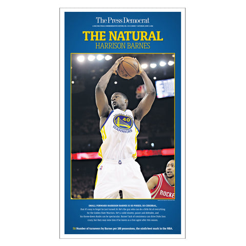 Warriors Commemorative Sports Page Replica - Harrison Barnes