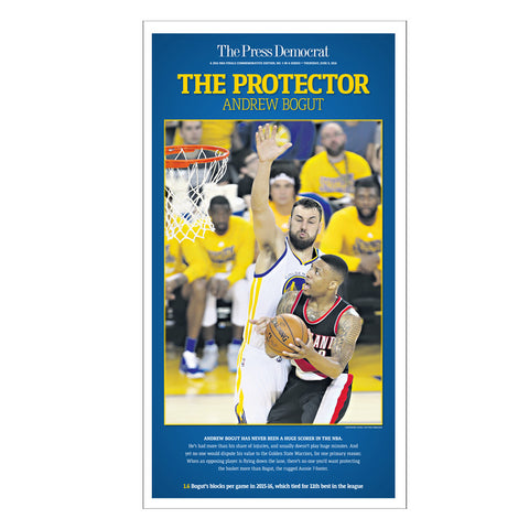 Warriors Commemorative Sports Page Replica - Andrew Bogut