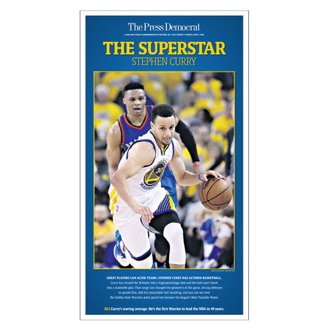 Warriors Commemorative Sports Page Replica - Steph Curry