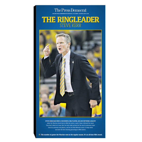 Warriors Commemorative Sports Page Replica - Coach Steve Kerr