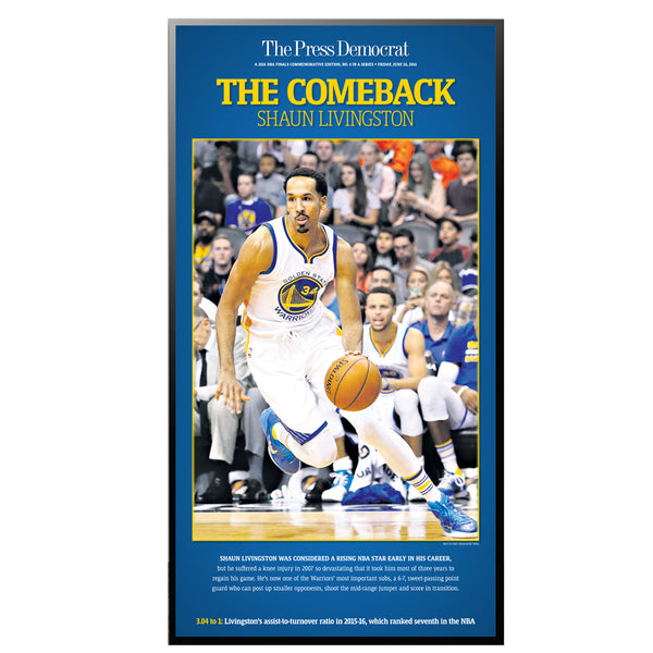 Warriors Commemorative Sports Page Replica - Shaun Livingston