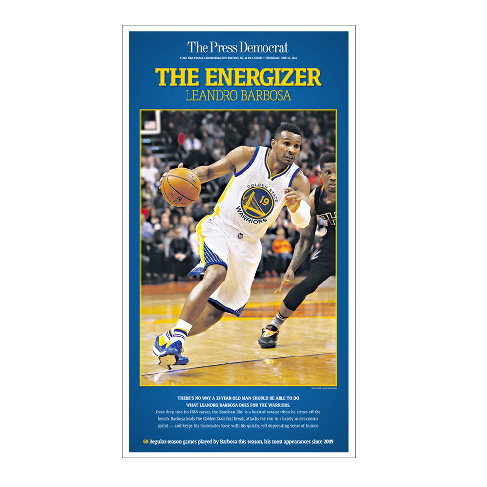 Warriors Commemorative Sports Page Replica - Leandro Barbosa