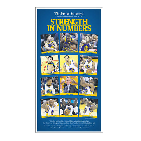 Warriors Team Commemorative Sports Page Replica