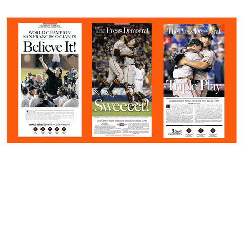 Commemorative SF Giants World Series Wins