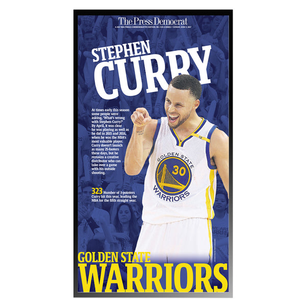 Warriors 2017 Commemorative Sports Page - Steph Curry