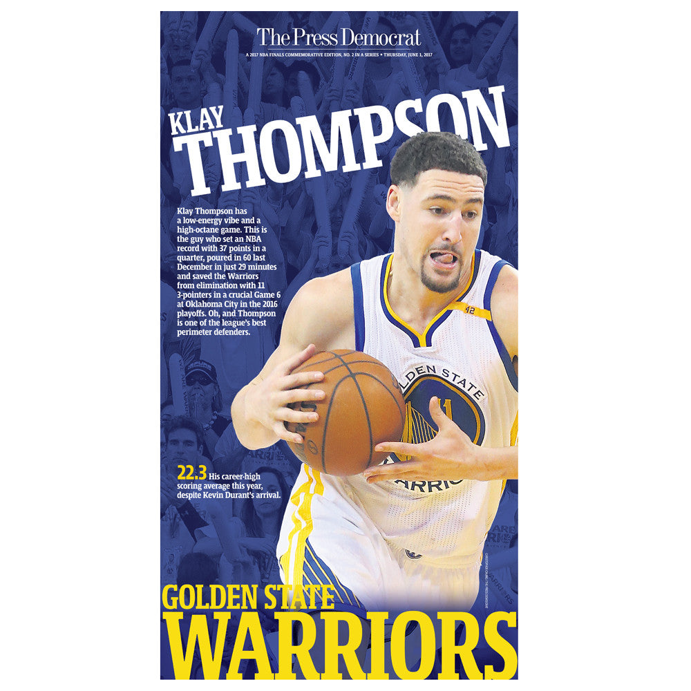 Warriors 2017 Commemorative Sports Page - Klay Thompson
