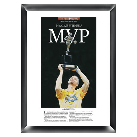 Steph Curry Commemorative MVP Wood Plaque