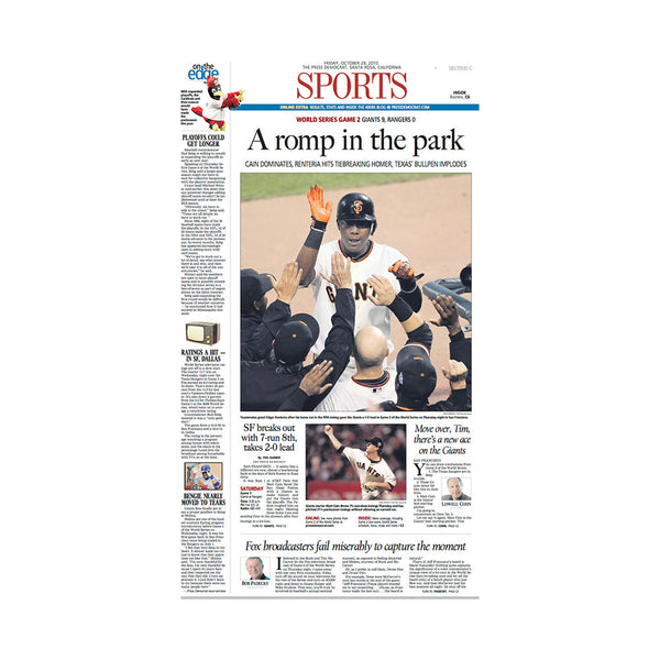 The Press Democrat Classics: San Francisco Giants 2010 World Series - A Romp in the Park
