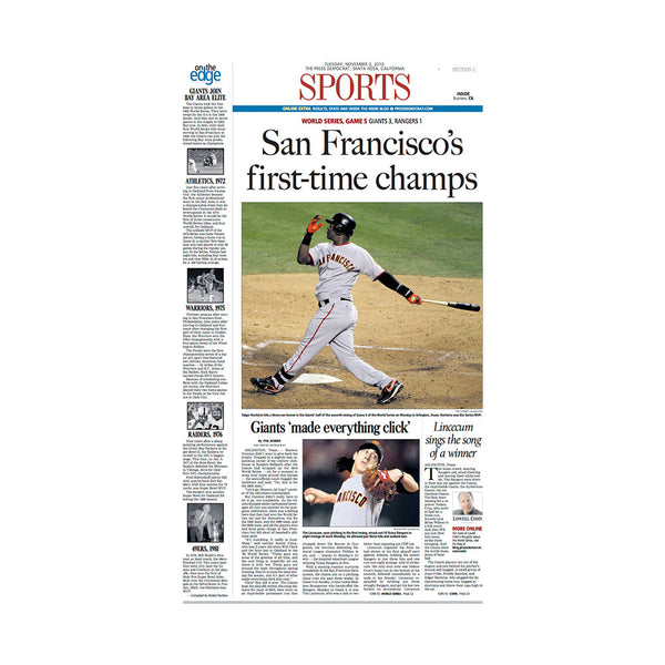 The Press Democrat Classics: San Francisco Giants 2010 World Series First Time Champs