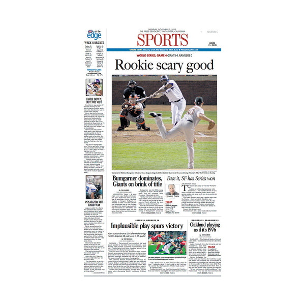 The Press Democrat Classics:  San Francisco Giants 2010 World Series - Rookie Scary Good