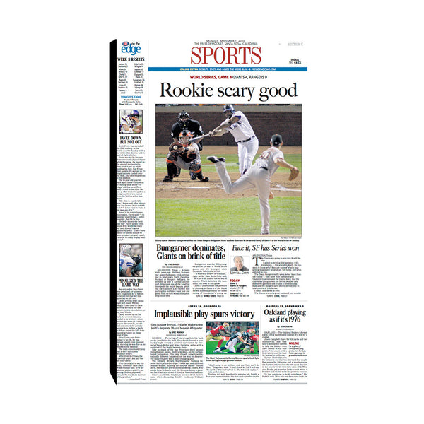 The Press Democrat Classics: San Francisco Giants 2010 World Series Rookie Scary Good