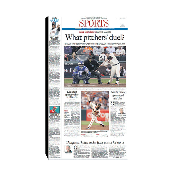 The Press Democrat Classics: San Francisco Giants 2010 World Series - What Pitchers Duel