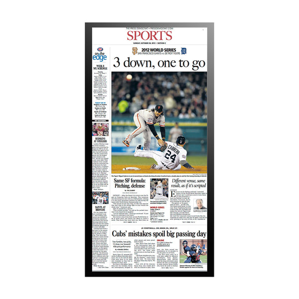 The Press Democrat Classics: San Francisco Giants 2012 World Series 3 Down One To Go