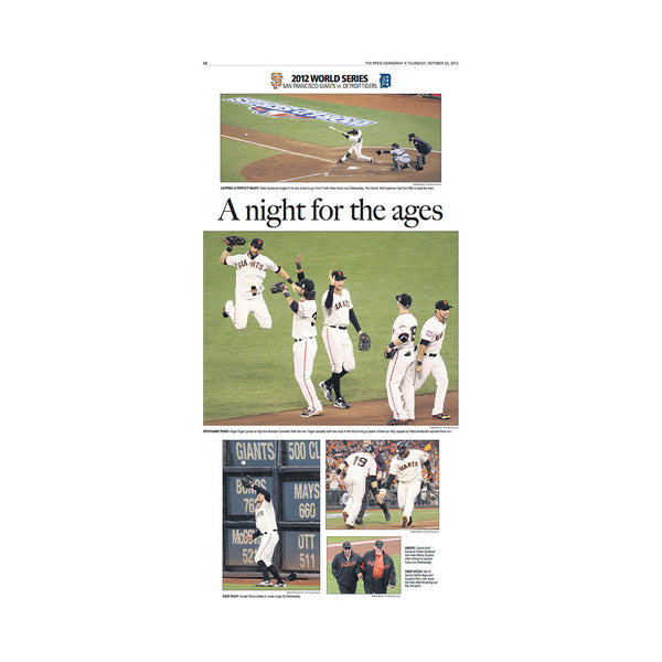 The Press Democrat Classics: San Francisco Giants 2012 World Series A night for Ages