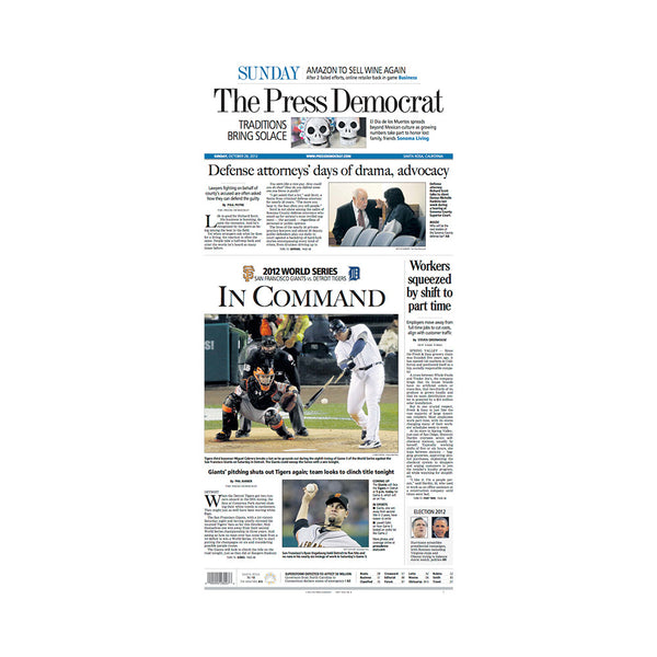 The Press Democrat Classics: San Francisco Giants 2012 World Series In Command