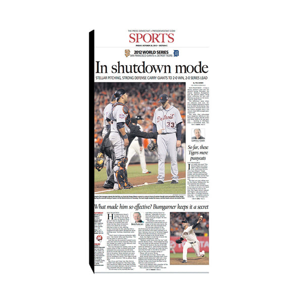 The Press Democrat Classics: San Francisco Giants 2012 World Series In Shutdown Mode