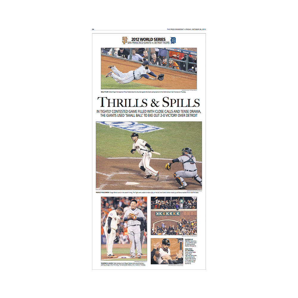 The Press Democrat Classics: San Francisco Giants 2012 World Series - Thrills Spills