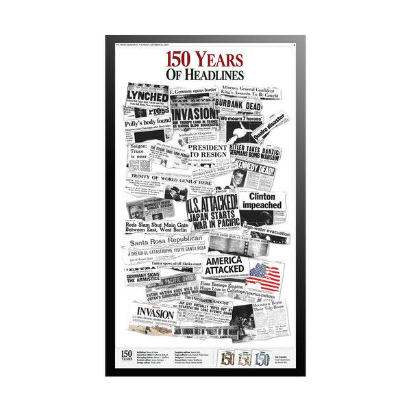 The Press Democrat Classics: The Press Democrat Celebrates 150 Years - The Headlines