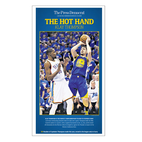 Warriors Commemorative Sports Page Replica - Klay Thompson