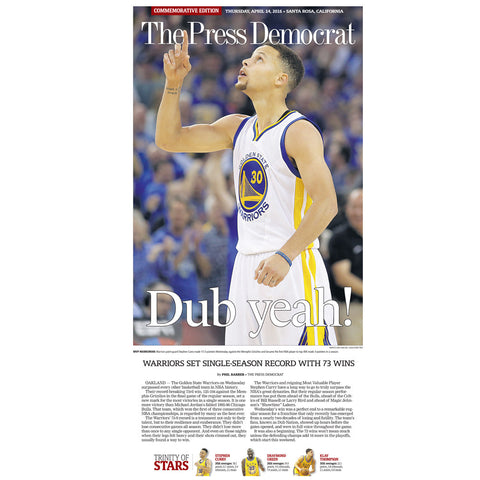 Warriors Record Season Win Replica Poster