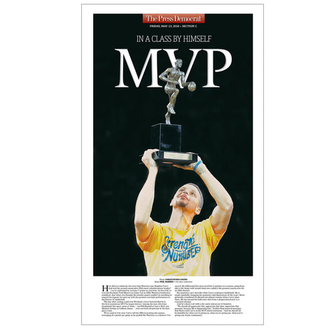 Steph Curry Commemorative MVP Replica Poster