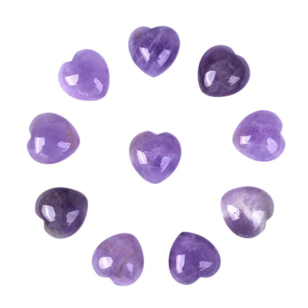 Amethyst Puffy Hearts | Woodland Apothecary®