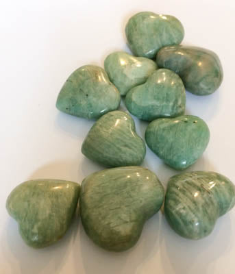 Amazonite Puffy Hearts | Woodland Apothecary®