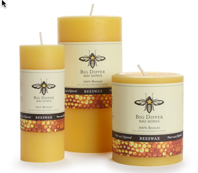 Beeswax Pillar Candles | Woodland Apothecary®