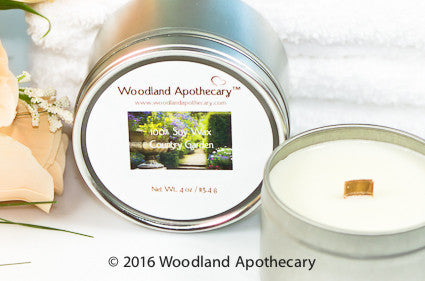 Soy Candle Tin - Country Garden | Woodland Apothecary™