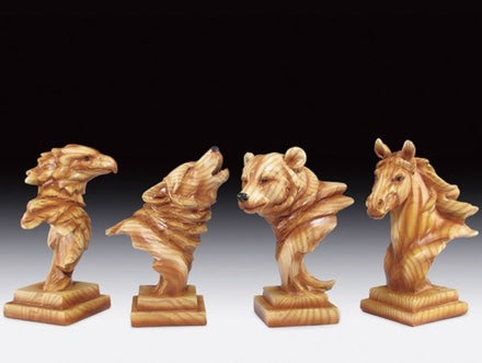 Wood Like Carved Statute (Eagle, Wolf, Bear or Horse) | Woodland Apothecary®