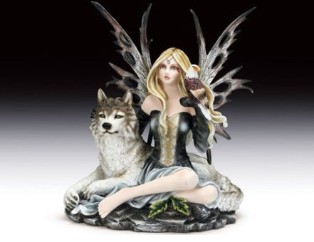 Fairy With Wolf and Eagle Companions | Woodland Apothecary®