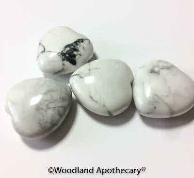 Howlite Puffy Hearts | Woodland Apothecary®