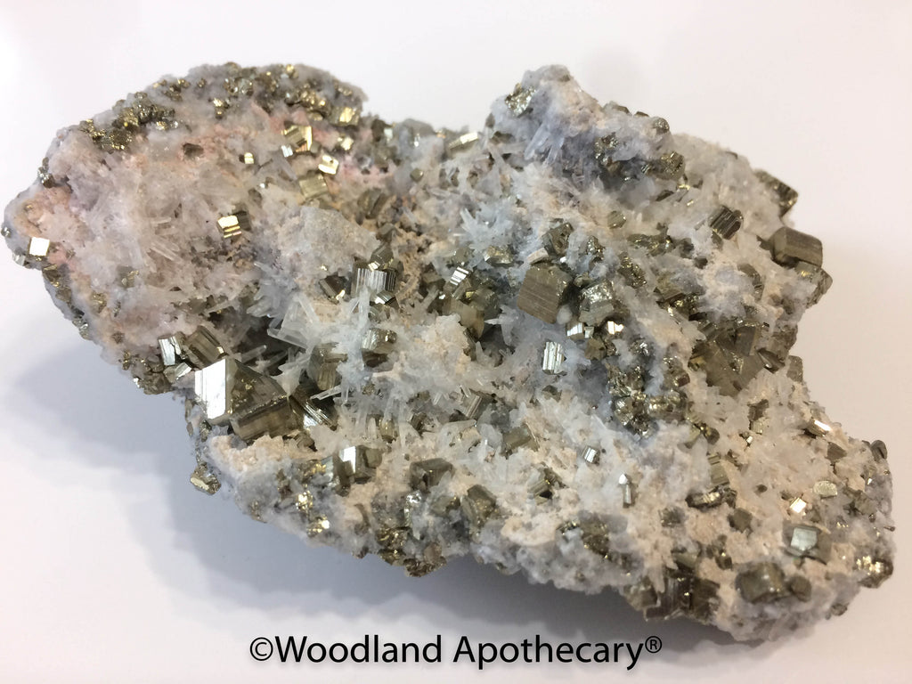 Pyrite and Quartz Cluster | Woodland Apothecary®