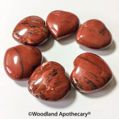 Red Jasper Puffy Hearts | Woodland Apothecary®