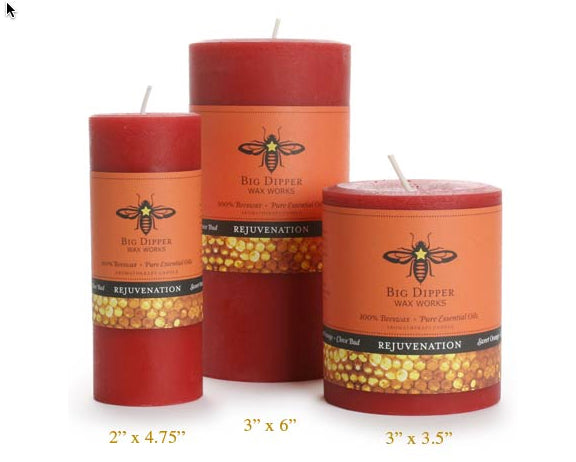 Beeswax Aromatherapy Pillar Candles | Woodland Apothecary®