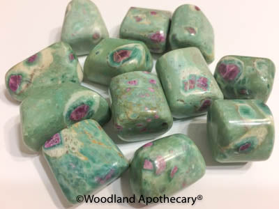 Ruby in Fuchsite Tumbled Stones | Woodland Apothecary®