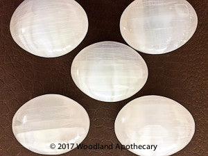 Palm Stones - Selenite