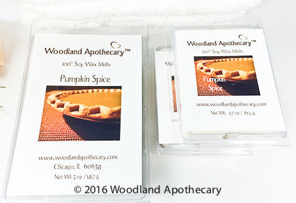 Pumpkin Spice Soy Wax Melts | Woodland Apothecary®