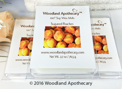 Sugared Peaches Soy Wax Melts | Woodland Apothecary®