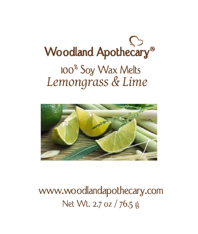 Lemongrass & Lime  Soy Wax Melts | Woodland Apothecary®