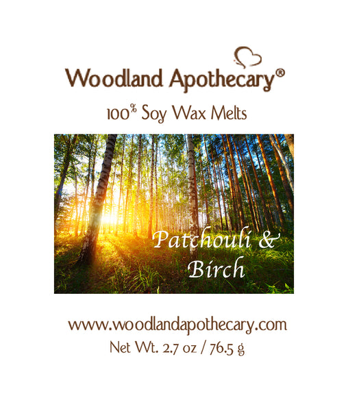 Patchouli & Birch Soy Wax Melts | Woodland Apothecary®