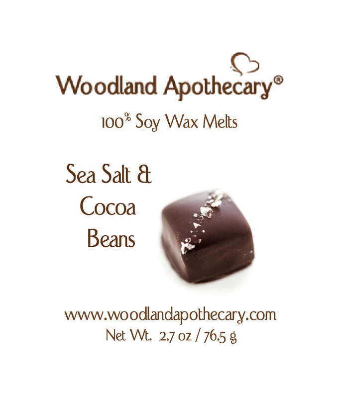 Sea Salt & Cocoa Beans Soy Wax Melt | Woodland Apothecary®