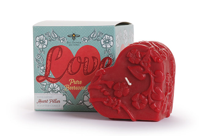 Valentine's Heart Beeswax Candle | Woodland Apothecary®