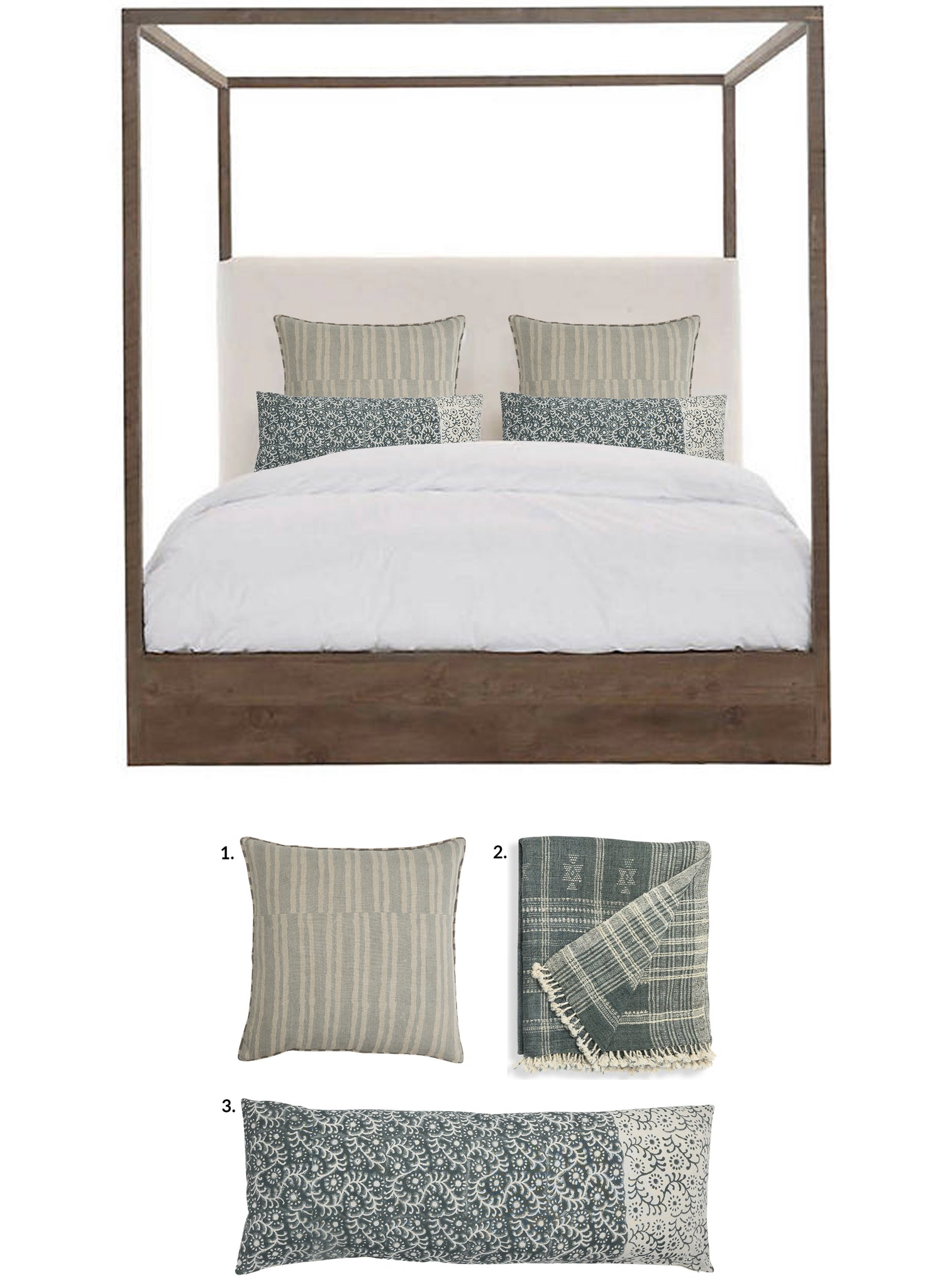 Bed Pillow Combination 8