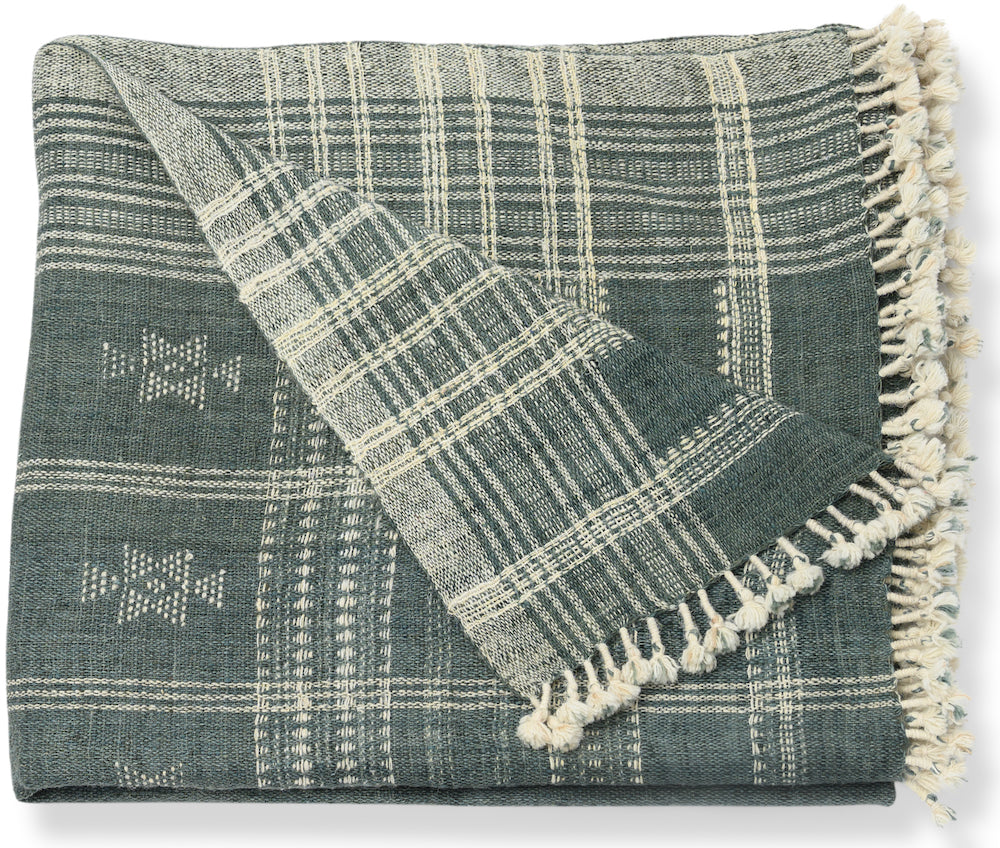 Akriti Slate Throw