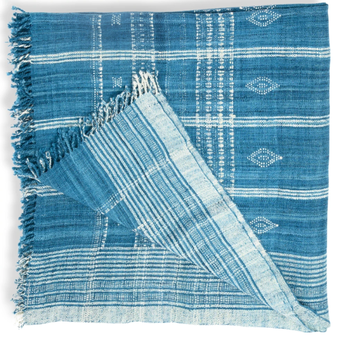 Akriti Indigo Throw