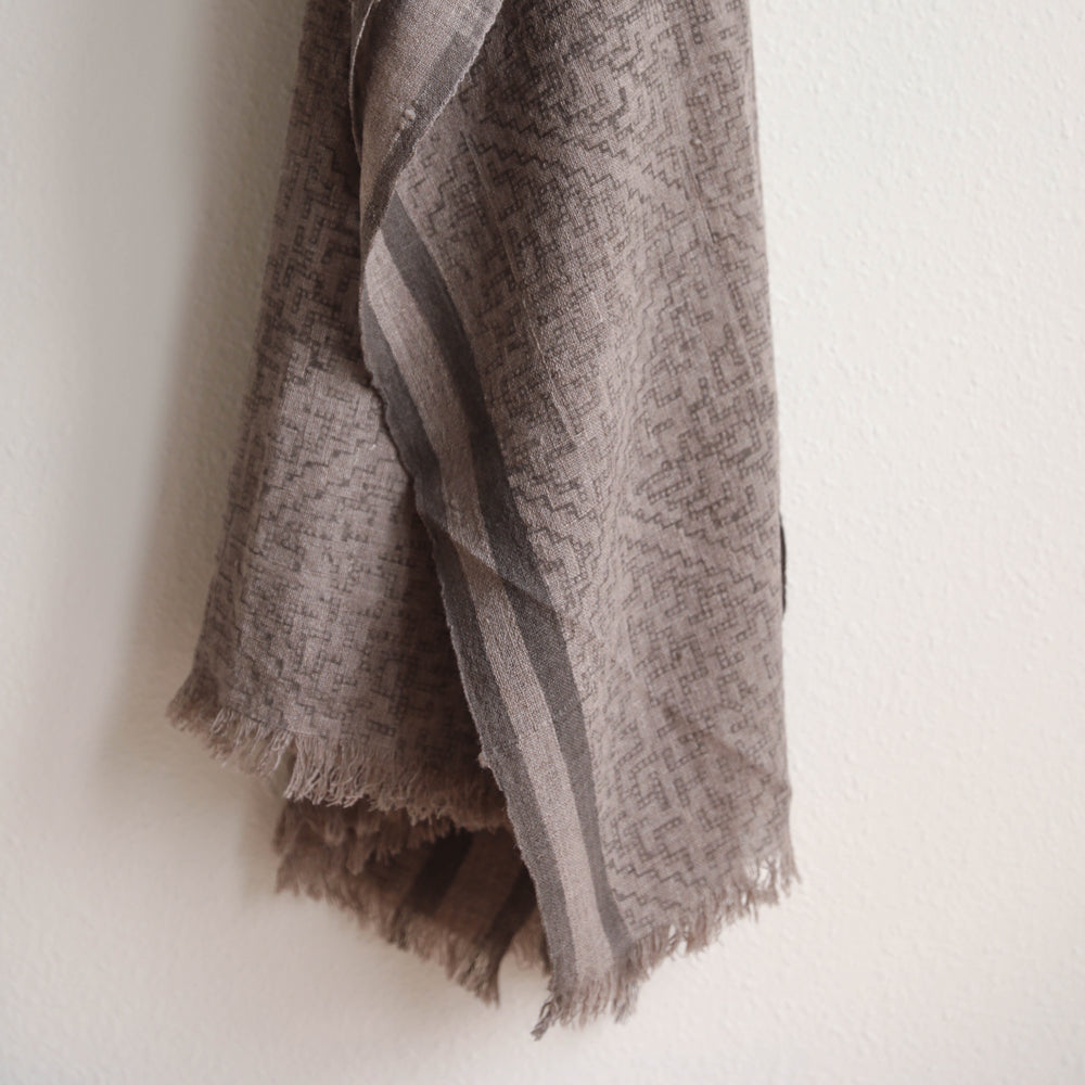 Birch Block Print Shawl